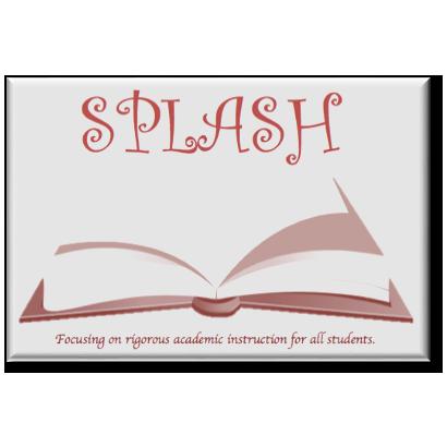 SPLASH logo with an open book